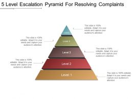 5 Level Escalation Pyramid For Resolving Complaints Powerpoint Shapes
