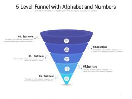5 Level Funnel With Alphabet And Numbers