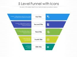 5 Level Funnel With Icons