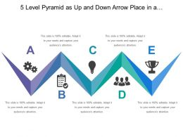 5 Level Pyramid As Up And Down Arrow Place In A Straight Row