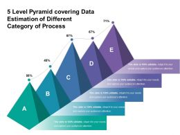 5 Level Pyramid Covering Data Estimation Of Different Category Of Proces