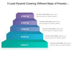 5 Level Pyramid Covering Different Steps Of Process With Description