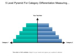 5 Level Pyramid For Category Differentiation Measuring Data Growth