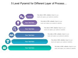5 Level Pyramid For Different Layer Of Process With Related Icon