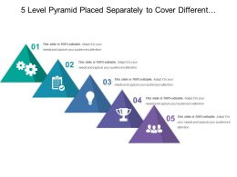 5 Level Pyramid Placed Separately To Cover Different Steps Of Process