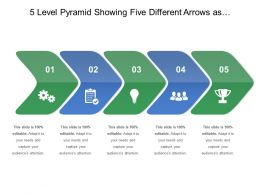 5_level_pyramid_showing_five_different_arrows_as_different_sub_process_facing_towards_one_side_Slide01