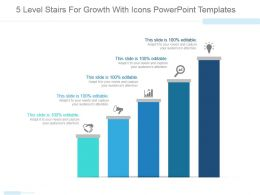 5 Level Stairs For Growth With Icons Powerpoint Templates
