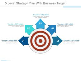 5 Level Strategy Plan With Business Target Powerpoint Graphics