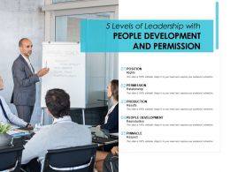 5 Levels Of Leadership With People Development And Permission