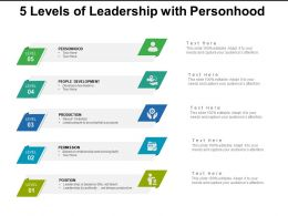 5 Levels Of Leadership With Personhood