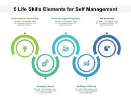 5 Life Skills Elements For Self Management