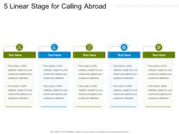 5 Linear Stage For Calling Abroad Infographic Template
