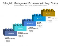 5 Logistic Management Processes With Lego Blocks
