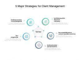 5 Major Strategies For Client Management