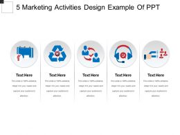 5 Marketing Activities Design Example Of Ppt