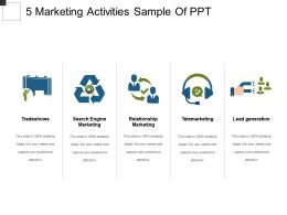 5 Marketing Activities Sample Of Ppt