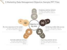5 Marketing Data Management Objective Sample Ppt Files