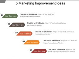 5 Marketing Improvement Ideas Powerpoint Images
