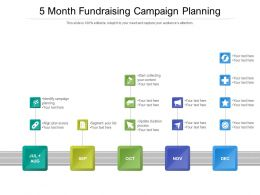 5 Month Fundraising Campaign Planning