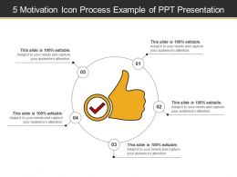 5 Motivation Icon Process Example Of Ppt Presentation