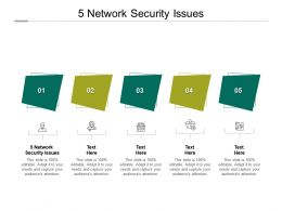 5 Network Security Issues Ppt Powerpoint Presentation Infographic Template Design Inspiration Cpb