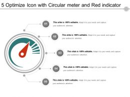 5 Optimize Icon With Circular Meter And Red Indicator