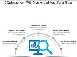 5 Optimize Icon With Monitor And Magnifying Glass