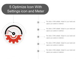 5 Optimize Icon With Settings Icon And Meter