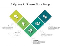 5 Options In Square Block Design
