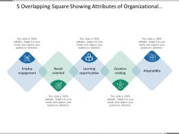 5 Overlapping Square Showing Attributes Of Organizational Culture