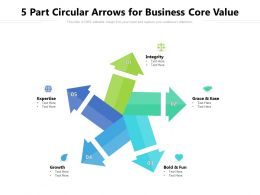 5 Part Circular Arrows For Business Core Value