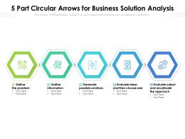 5 Part Circular Arrows For Business Solution Analysis