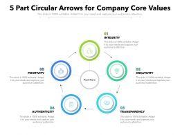 5 Part Circular Arrows For Company Core Values