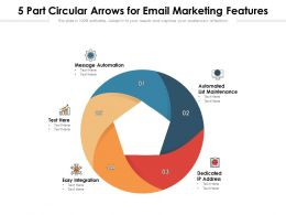 5 Part Circular Arrows For Email Marketing Features
