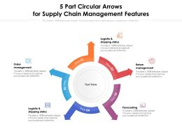 5 Part Circular Arrows For Supply Chain Management Features