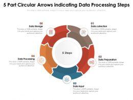 5 Part Circular Arrows Indicating Data Processing Steps