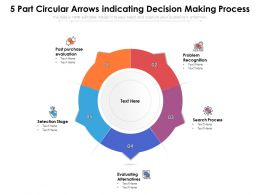 5 Part Circular Arrows Indicating Decision Making Process