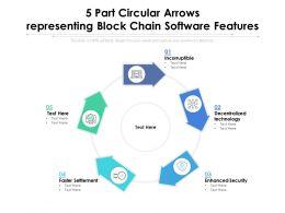 5 Part Circular Arrows Representing Block Chain Software Features