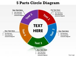 5 parts circle diagram 5