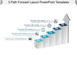 5 Path Forward Layout Powerpoint Templates