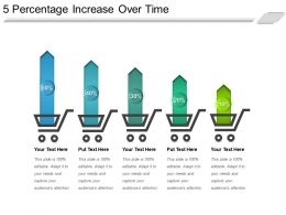 5 Percentage Increase Over Time Powerpoint Slides Templates