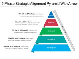 5 Phase Strategic Alignment Pyramid With Arrow