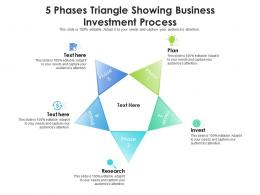 5 Phases Triangle Showing Business Investment Process