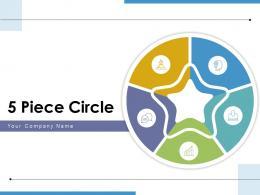5 Piece Circle Analyzing Product Communicate Business Success Progress
