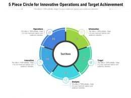 5 Piece Circle For Innovative Operations And Target Achievement