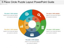 5 Piece Circle Puzzle Layout Powerpoint Guide