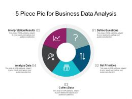 5 Piece Pie For Business Data Analysis