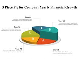 5 Piece Pie For Company Yearly Financial Growth