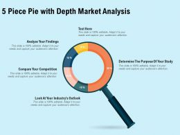 5 Piece Pie With Depth Market Analysis