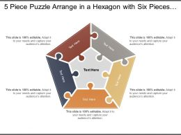 5 Piece Puzzle Arrange In A Hexagon With Six Pieces Around A Centre One
